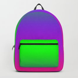 OMBRE -GRADIENT- PLASTIC PINK PROTON PURPLE- UFO GREEN WORLDWIDE TRENDING COLOR / COLOUR Backpack