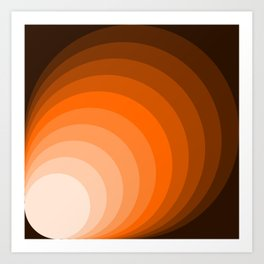 Brown Circles Art Print