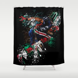 Football Player Shower Curtain
