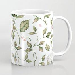 Pink And White Flower Garden Coffee Mug