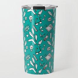 LotteZ' purse items doodle print (mint) Travel Mug