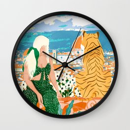 The Italian View #painting #illustration Wall Clock