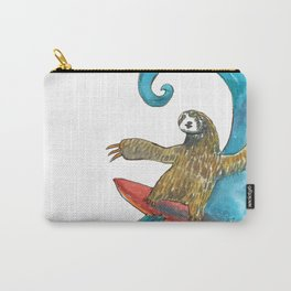 surfing sloth transparent Carry-All Pouch