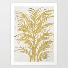 Gold Palms Art Print