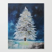 christmas tree Canvas Prints featuring Christmas Tree by Liveart4evr