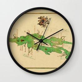 Map Of Lake Champlain 1740 Wall Clock