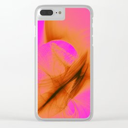 Orange Sherbert Clear iPhone Case