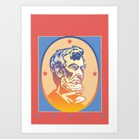 lincoln Art Prints featuring Lincoln by David Chestnutt
