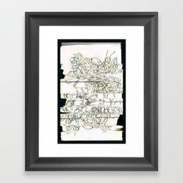 Autistic Remix #003 Framed Art Print