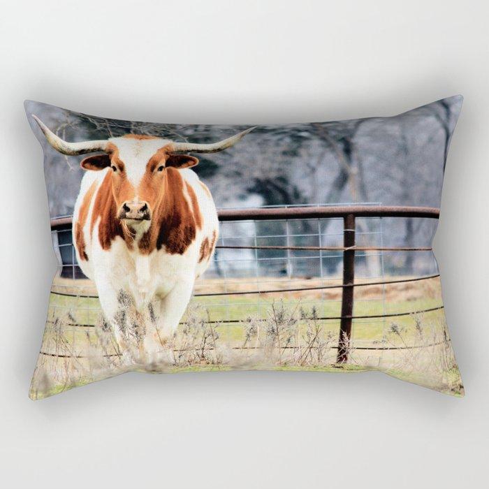 Texas Longhorn Morning Rectangular Pillow