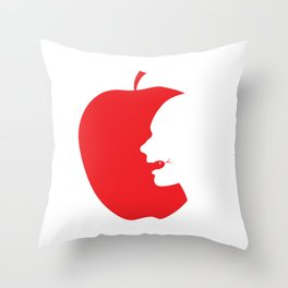 Apple and Eve Throw Pillow