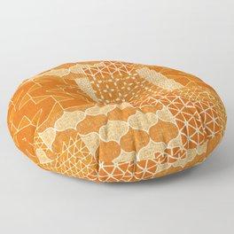 Masala Quilt - marmalade Floor Pillow