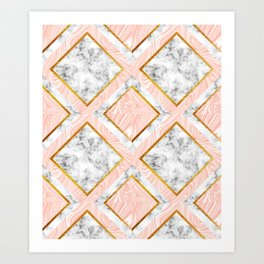 Gold and marble Art Print