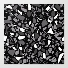 Terrazzo Spot Black 2 Canvas Print