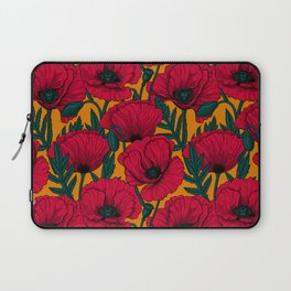 Red poppy garden Laptop Sleeve