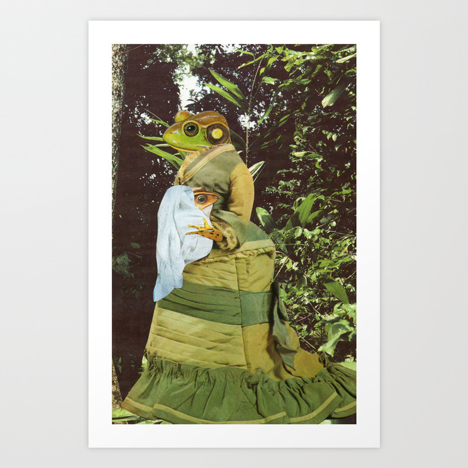 Mother Frog Art Print By Rubytingle Society6