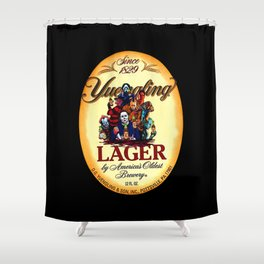 horror movie characters yuengling lager by america's oldest brewery halloween Shower Curtain