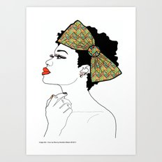 I Love My Bow Art Print