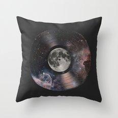 L.P. (Lunar Phonograph) Throw Pillow