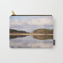 Natural Reflections On A Lake And Beautiful Clouds Carry-All Pouch