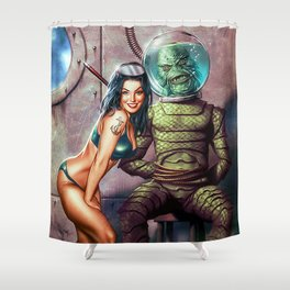 The Creature Exposed Shower Curtain