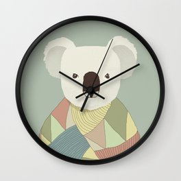 Whimsical Koala II Wall Clock
