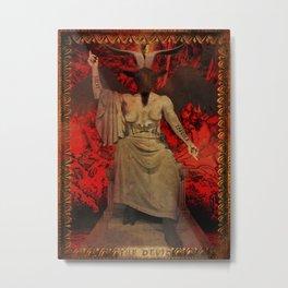 Baphomet Tarot Metal Print