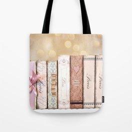 Paris Dream Love Books Print Tote Bag