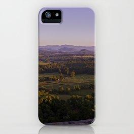 Sunrise Glassy Mountain, South Carolina iPhone Case