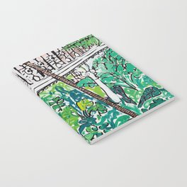 Kew Gardens Jungle Botanical Painting Greenhouse Notebook
