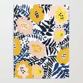 Outdoor: florals matching to design for a happy life Poster