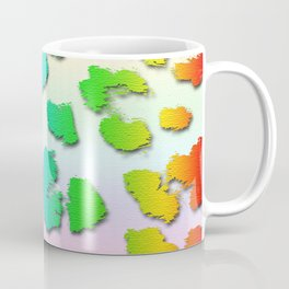 Rainbow Leopard Spots & Pastel Background Coffee Mug