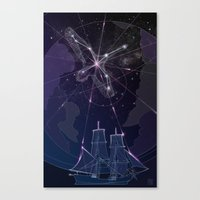 captain swan Canvas Prints featuring The Captain and The Swan by Zodabel