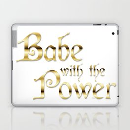 Labyrinth Babe With The Power (white bg) Laptop & iPad Skin