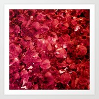 ruby Art Prints featuring Ruby by Lotus Effects