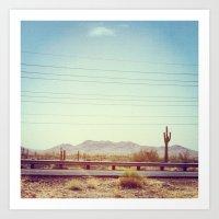 desert Art Prints featuring Desert by Whitney Retter
