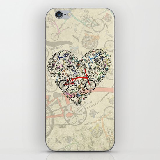 I Love Brompton Bikes iPhone & iPod Skin