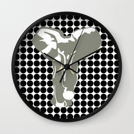 Black Safari Dot with Pop Art Elephant Wall Clock
