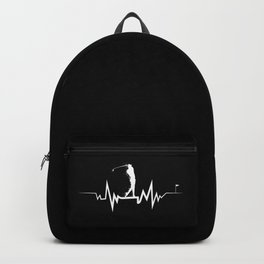 Golf Heartbeat design- Cool Gift For Golfer Backpack