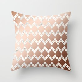 Copper & Marble 03 Throw Pillow