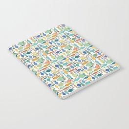 Retro Fish White Notebook