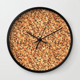 Mac & Cheese Pattern Wall Clock