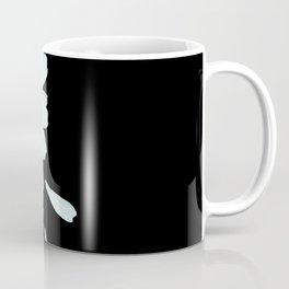 Love Me - Love Me Not - White Daisy on Black Background #decor #society6 #buyart Coffee Mug