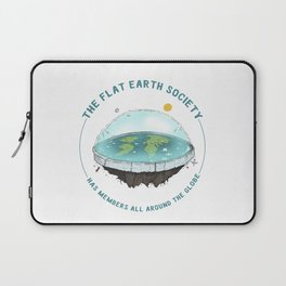 The Flat Earth has members all around the globe Laptop Sleeve