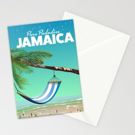 'Pure Paradise' Jamaica travel poster Stationery Cards