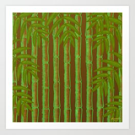 Bamboo Forest Pattern! Art Print