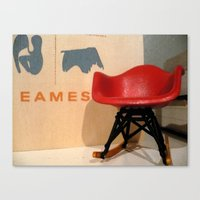 eames Canvas Prints featuring Eames by Melissa Nocero