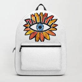 Greek Evil Eye Peach Flower Backpack