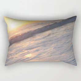 and she rises. Rectangular Pillow