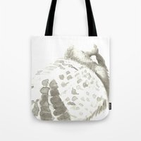 pigeon Tote Bags featuring Pigeon by Goran Medjugorac